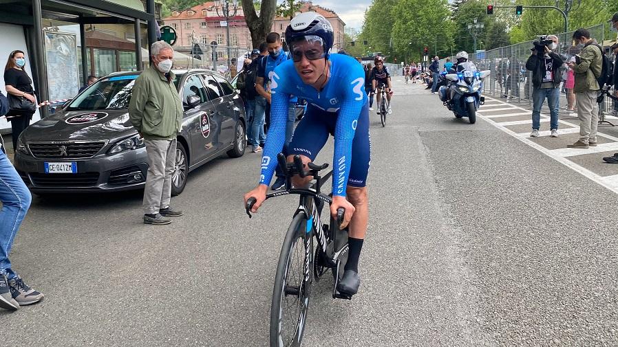 Torres, al finalizar la etapa.