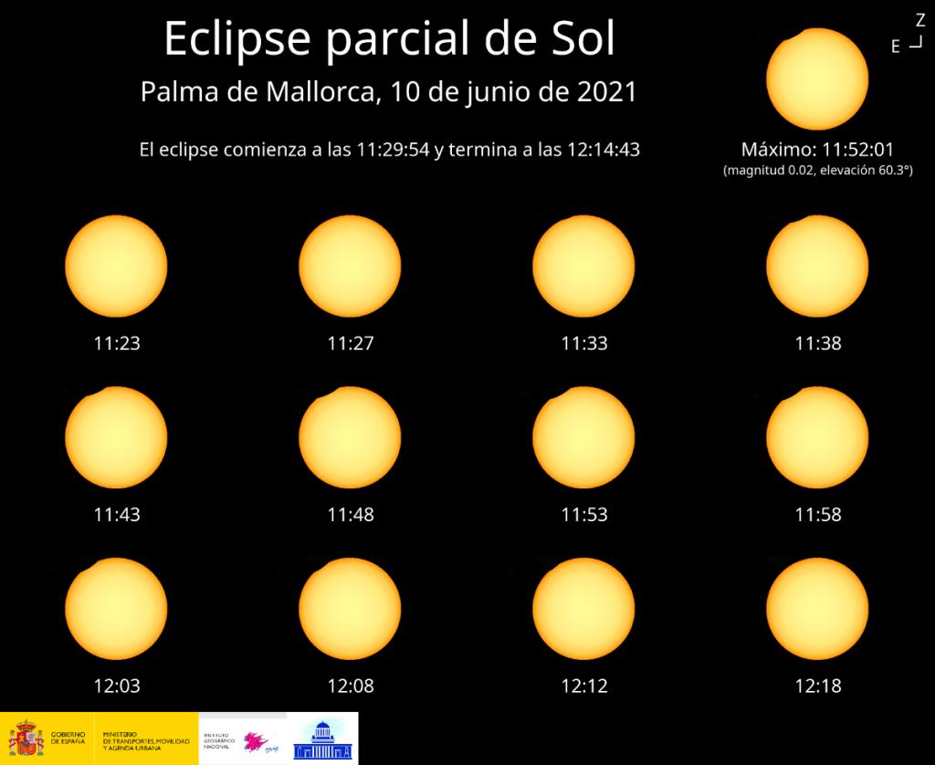 Cómo se verá el eclipse desde Baleares