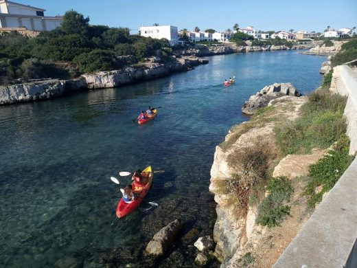 (Fotos) Aprendiendo a navegar en Ciutadella