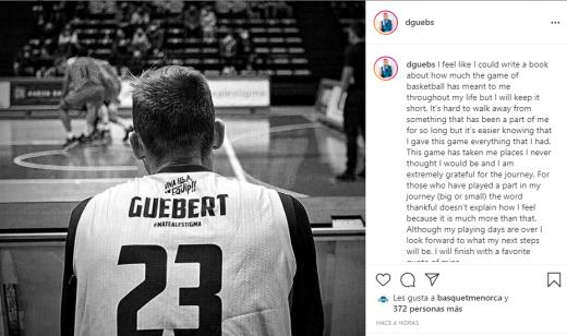 Comunicado del jugador en Instagram.