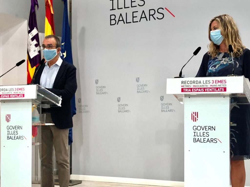 El vicepresidente Juan Pedro Yllanes y la consellera Patricia Gómez