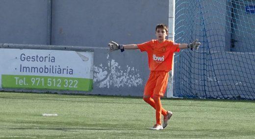 Josep Mercadal, en un partido del Mallorca.