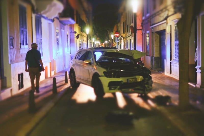 Fotografía del coche accidentado (Foto: Antxón Castresana)