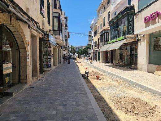 Nueva imagen de la calle Ses Moreres de Maó