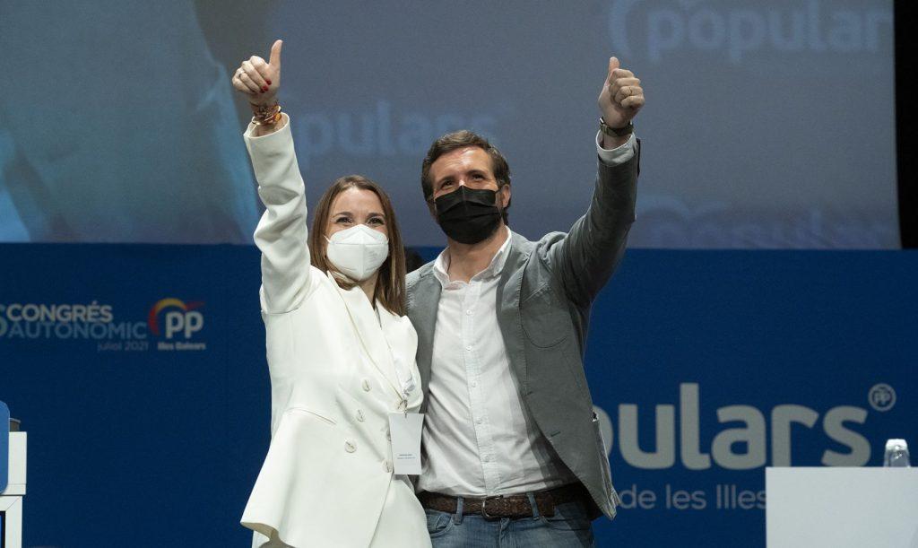 Marga Prohens y Pablo Casado.