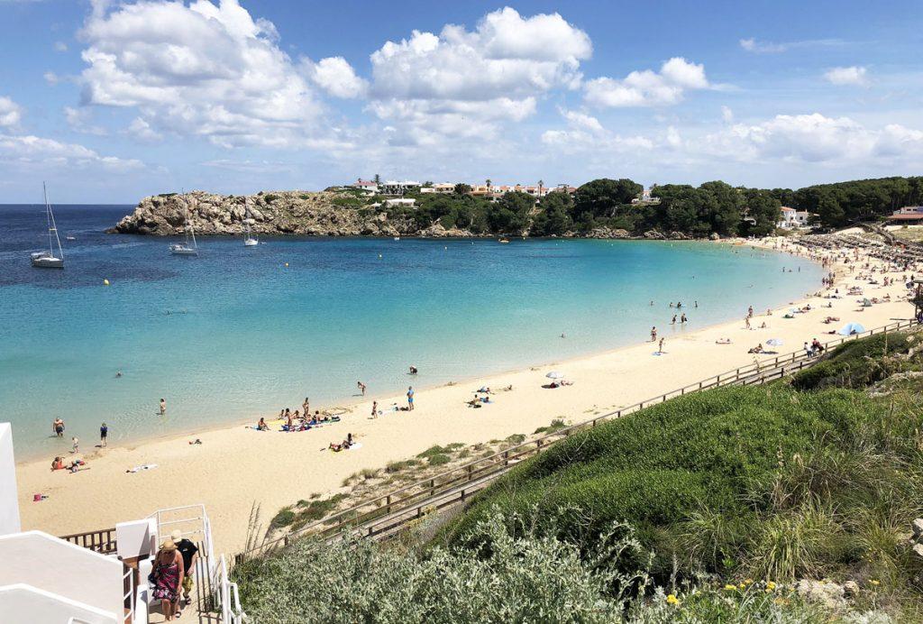 Día de playa este viernes en Menorca.