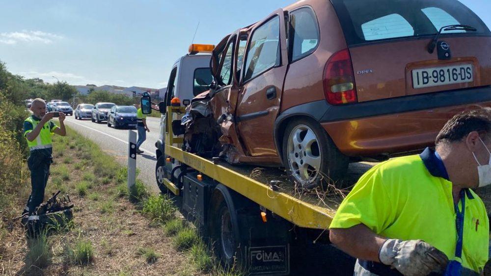 Imagen de uno de los coches afectados (Fotos: Tolo Mercadal)