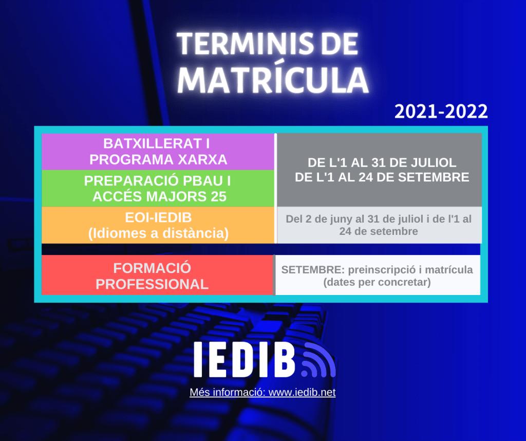 Imagen del calendario del IDEIB
