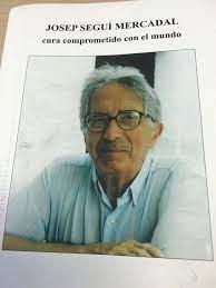 Josep Seguí Mercadal en la porta de la publicación que le dedicó Jaume Botey Vallés