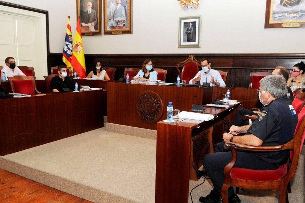 Junta de Seguridad Local reunida esta mañana en Maó