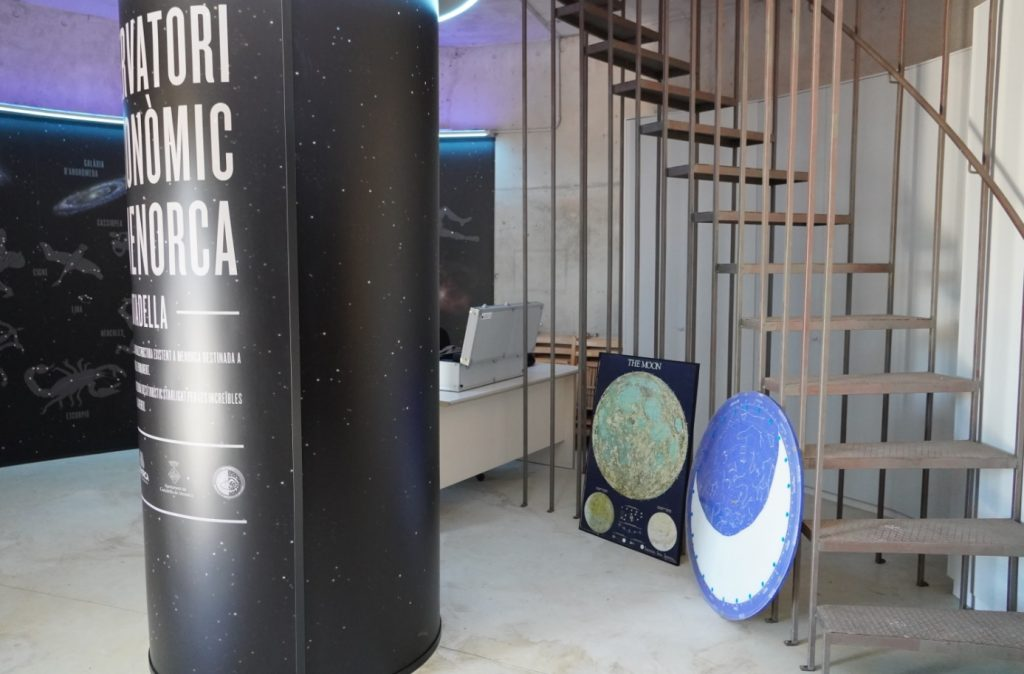 Primera planta del Observatorio Astronómico de Menorca
