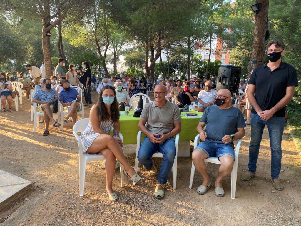 Raül Romeva en el acto celebrado en el parque Rubió i Tudurí de Maó