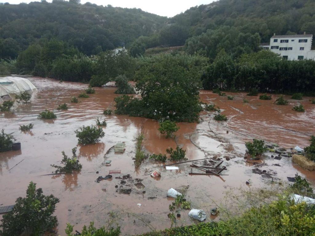 Arbres d'Algendar después de las lluvias torrenciales