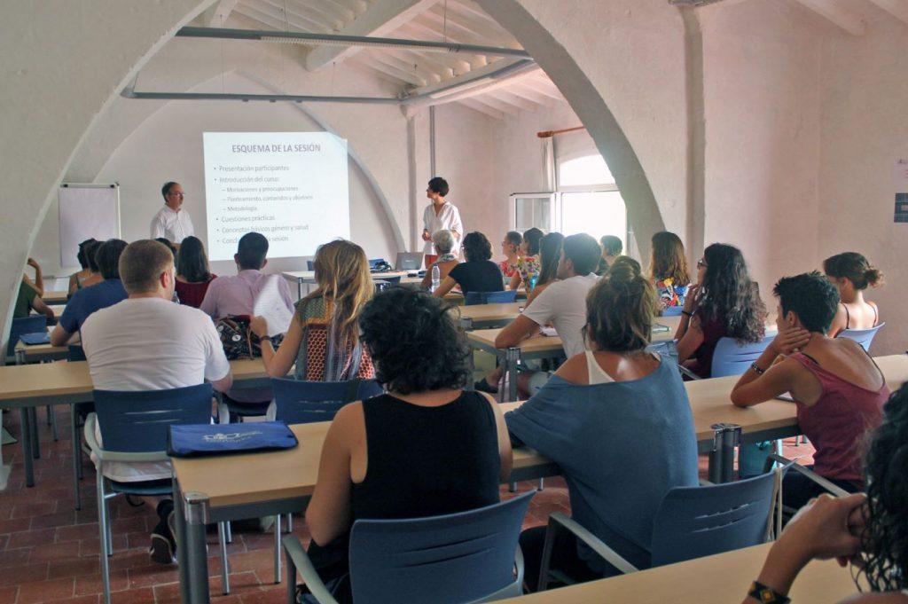 Aula de la Escola de Salut Pública en el Lazareto