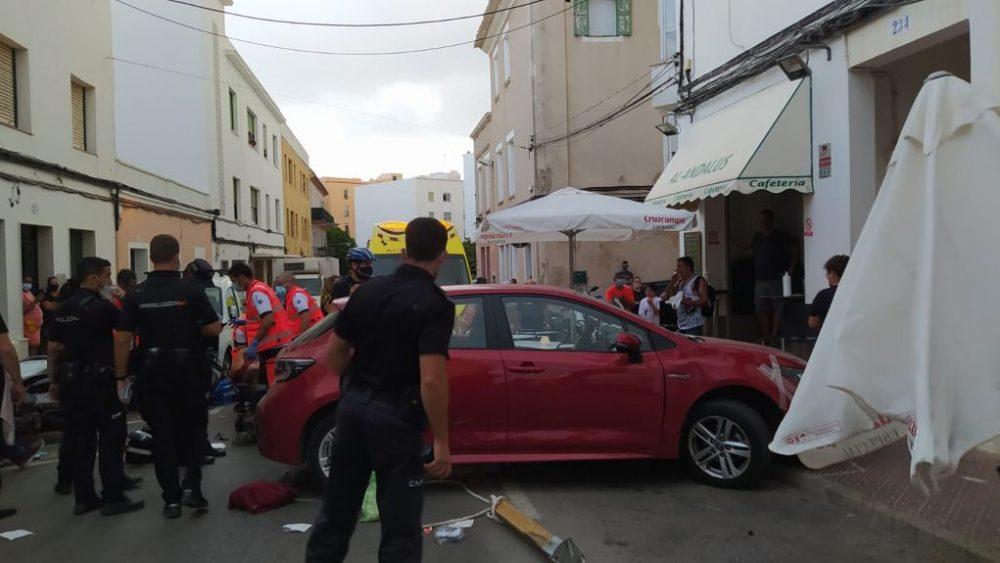 Imagen del accidente (Fotos: Antonio Abril)