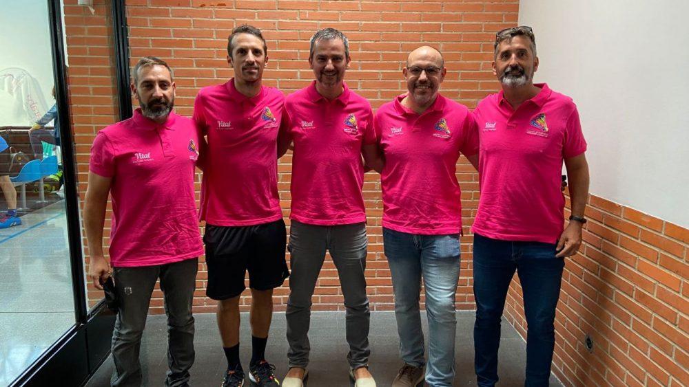 Imagen de los cinco representantes del CB Maó.