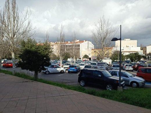 Maó cierra el aparcamiento gratuito de Ses Vinyes para instalar pérgolas fotovoltáicas