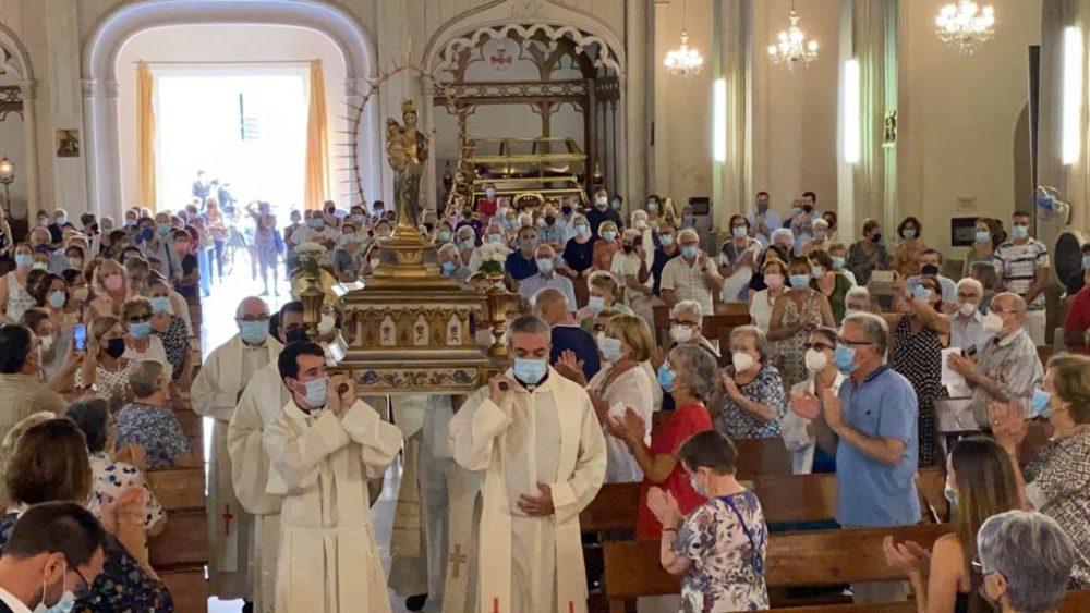Santa María recibe a la Verge de Gràcia (Foto: Tolo Mercadal)