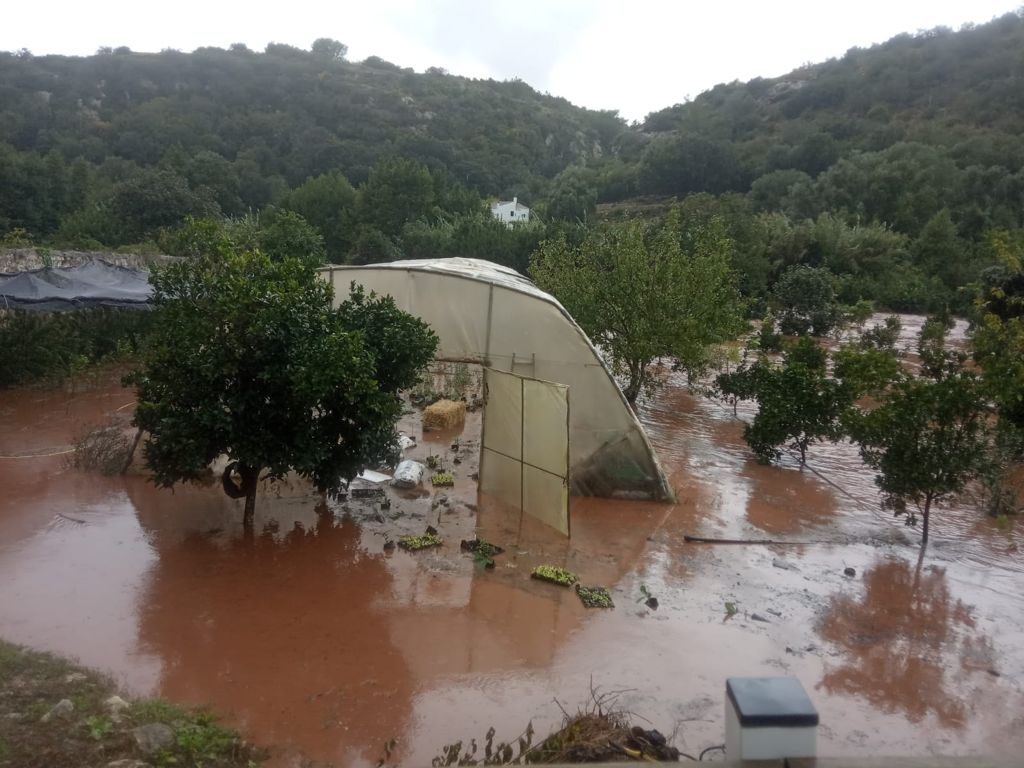 Inundaciones que provocó la DANA en el Barranc d'Algendar