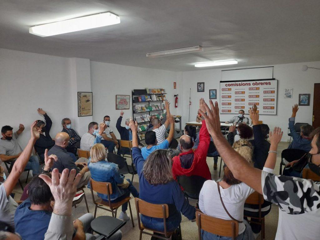 Asamblea de CCOO del Hábitat celebrada en Menorca este fin de semana (Imagen de su cuenta de Twitter)