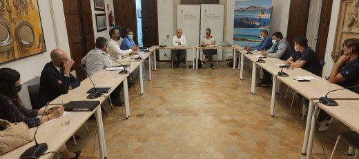 Imagen de la negociación que se mantuvo ayer noche en Mallorca