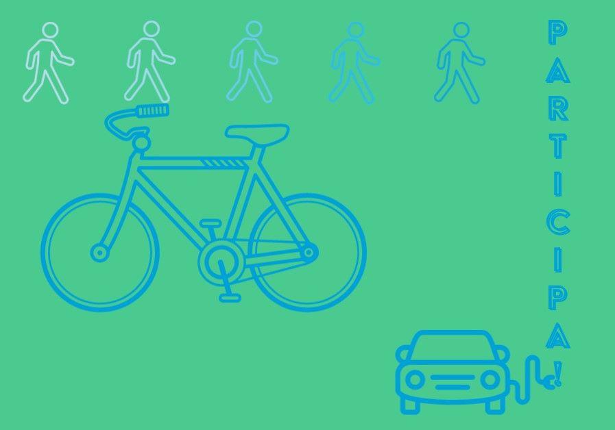 Imagen del cartel municipal sobre el Plan de Movilidad