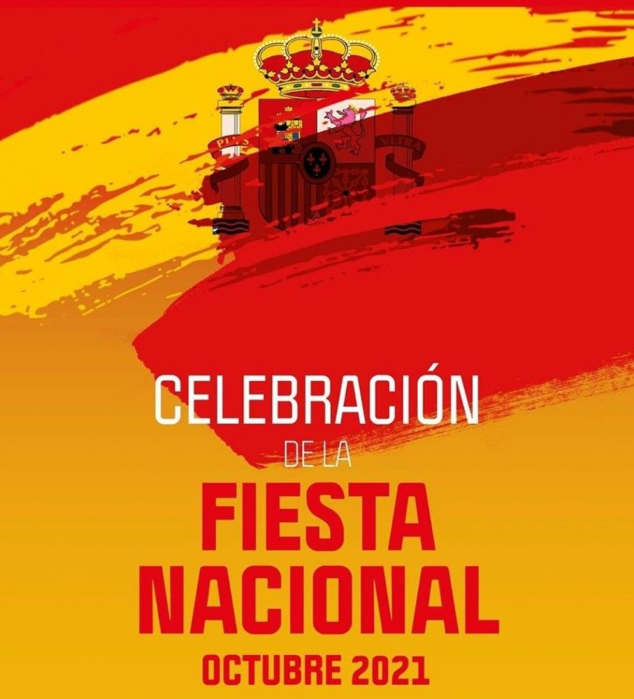 Imagen del cartel que anuncia los actos de la fiesta nacional