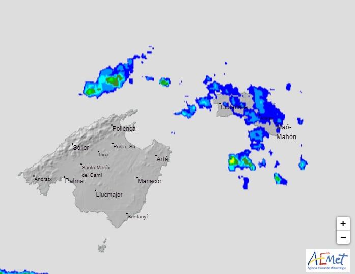 Imagen del radar de la Aemet esta mañana